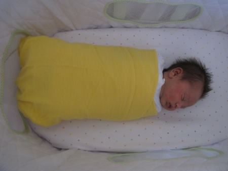 I'm so tightly wrapped in yellow I resemble a chinese donut!