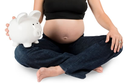 Pregnant piggy bank