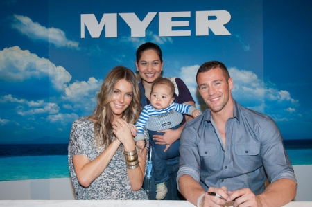 Jennifer Hawkins, Kris Smith, Michele and Levi.